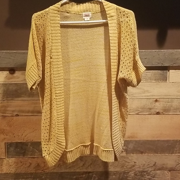 Mossimo Supply Co. Sweaters - Yellow cardigan